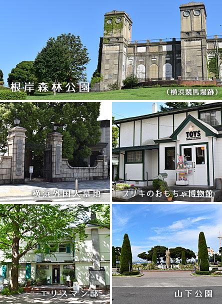 根岸森林公園 横浜外国人墓地 ブリキのおもちゃ博物館 エリスマン邸 山下公園